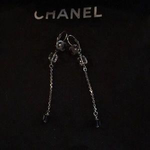 "Authentic Chanel 3"" Drop Earrings"
